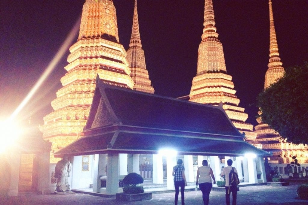 Exploring Wat Pho at night on a tuk tuk tour