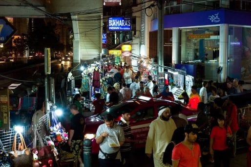 Sukhumvit Road night market in Nana, Bangkok